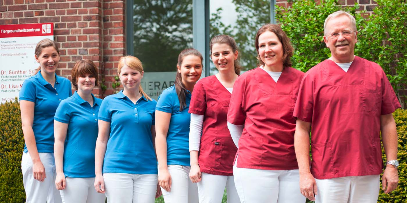 Team des Tiergesundheitszentrum Mönchengladbach